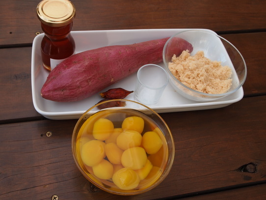 長澤家のレシピブログ-栗きんとん食材画像