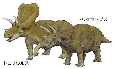 川崎悟司 オフィシャルブログ 古世界の住人 Powered by Ameba-トリケラトプスとトロサウルス