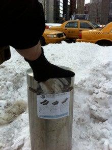 アンゴラヤギの靴下-冬のニューヨーク2010年お客様
