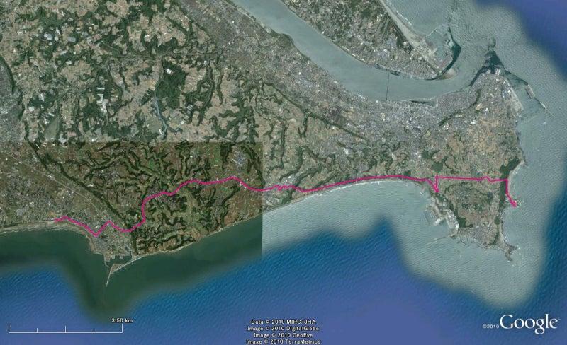 やっさんのGPS絵画プロジェクト -Yassan's GPS Drawing Project--GPS進捗101229