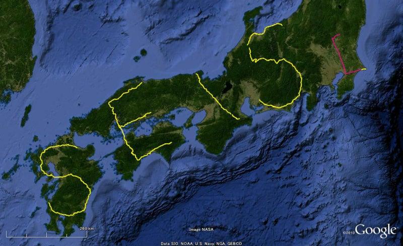 やっさんのGPS絵画プロジェクト -Yassan's GPS Drawing Project--GPS進捗101230