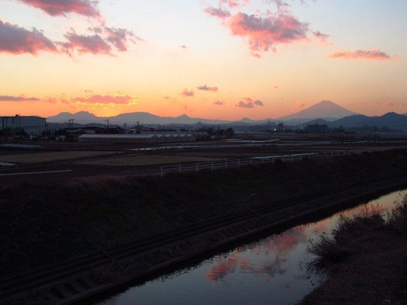 夕焼け富士山 鈴川