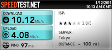 $kazutrekのブログ-WM3500SpeedTest