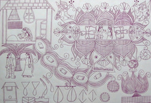 Mithila Art  Womans HEART