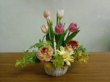 Floral Planning HR2miko ~flower&balloon school~ -チューリップのバスケットアレンジ