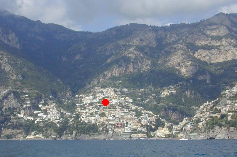 【彼女の恋した南イタリア】 ~ diario-ポジターノ Villa Gabrisaの垂直位置