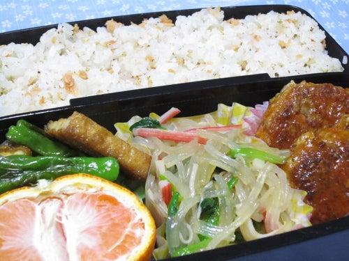 韓国料理サランヘヨ♪ I Love Korean Food-カニカマとほうれん草のチャプチェ