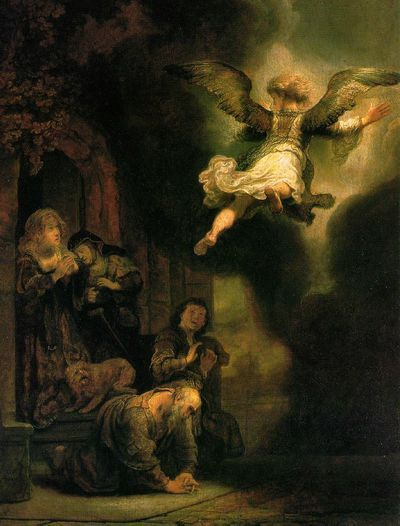 REMOVE-The Archangel Leaving the Family of Tobias,