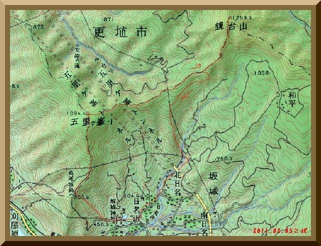 ロフトで綴る山と山スキー-110205_map