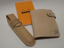 OXIO-CRAFT(オキクラ)の「革雑貨」製作日記-肉球ペンケースとメモカバー