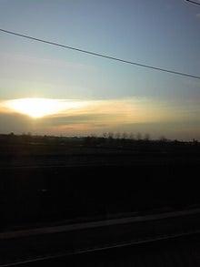 MOO日記-20110122列車からの夕日