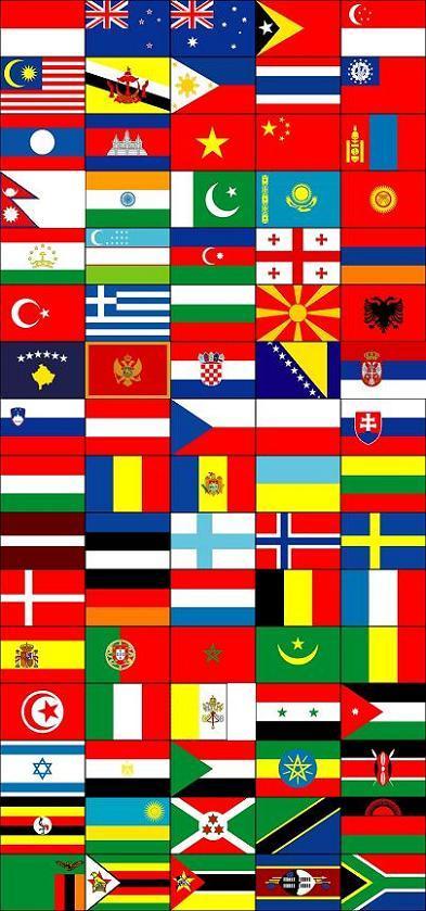 $RAKUEN QUES†-訪問国国旗