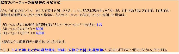 $GmenのTERA冒険活劇---MMORPG『TERA』オンラインゲーム.Blog-PT経験値分配方式01