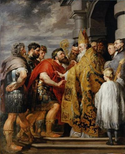 REMOVE-St. Ambrose and Emperor Theodosiu