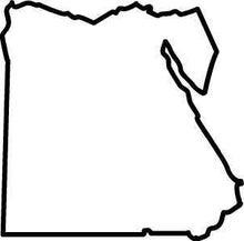 ササブログ-エジプト白地図