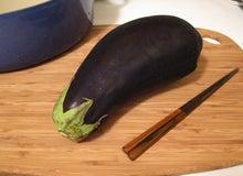 くみこ日記 in the USA-big eggplant