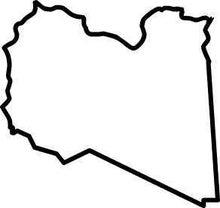 ササブログ-リビア白地図