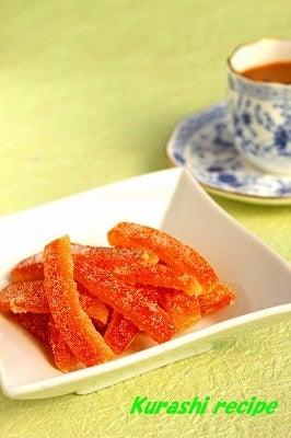 $旬菜料理家 伯母直美  野菜の収穫体験ができる料理教室 暮らしのRecipe-オレンジピール☆