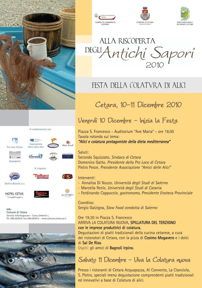 【彼女の恋した南イタリア】 ~ diario-イワシで地中海式ダイエット コラトゥーラ祭り