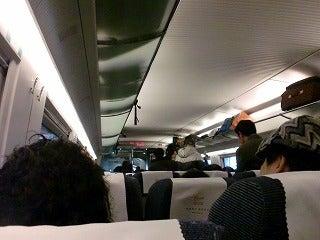 北京大学に短期留学をしました。-新幹線「和諧号」車内