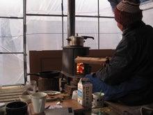 歩き人ふみの徒歩世界旅行 日本・台湾編-朝のお茶の湯を沸かすための火