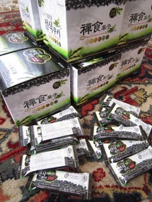 韓国料理サランヘヨ♪ I Love Korean Food-黒豆入りソンシククッキー