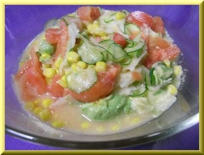 ローフード&マクロビオティックで美味しい生活♪-りんごと玉ねぎのドレッシングのサラダ