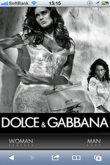 Dolce&Gabbana Official SiteのiPhone向けサイト
