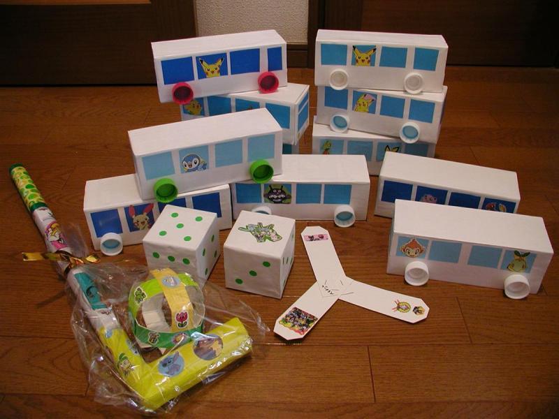 すべての折り紙 トイレットペーパー 折り紙 : ☆工作☆牛乳パックで「バス ...