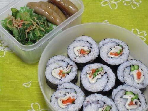 韓国料理サランヘヨ♪ I Love Korean Food-豚しゃぶキムパプ