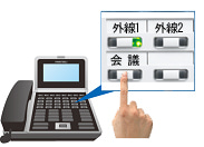 株式会社NIKのブログ-ビジネスフォン会議ボタン