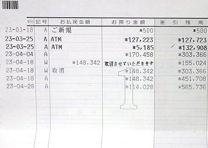 京都舞妓体験処『心』 スタッフブログ-通帳