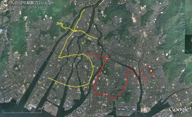 やっさんのGPS絵画プロジェクト -Yassan's GPS Drawing Project--GPS進捗110501