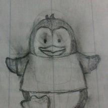 教室で完成したペンギ…
