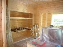 ログハウス・ビルドのブログ-一階洋室