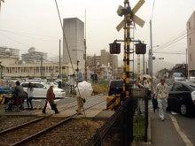 やっさんのGPS絵画プロジェクト -Yassan's GPS Drawing Project--02西浦上駅前踏切
