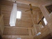 ログハウス・ビルドのブログ-リビング天井
