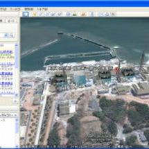 震災被災地の衛星写真…