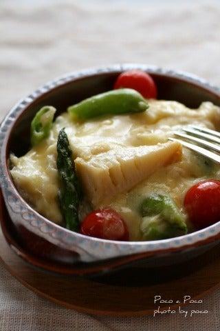 ゚・*:.。 Poco a Poco 。.:*・゚-タケノコと春野菜のグラタン