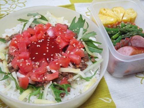 韓国料理サランヘヨ♪ I Love Korean Food-トマトと挽肉のビビンバ