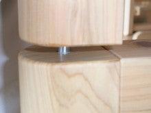 木工所のブログ-2段ベッド がたつき 防止