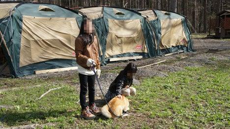 初めてのオートキャンプ!子供と一緒にキャンプに行こう!-柴犬五右衛門と双子の娘