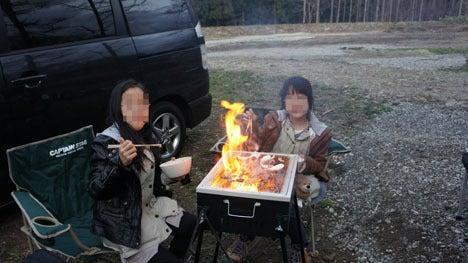 初めてのオートキャンプ!子供と一緒にキャンプに行こう!-1日目五右衛門バーベキュウ2