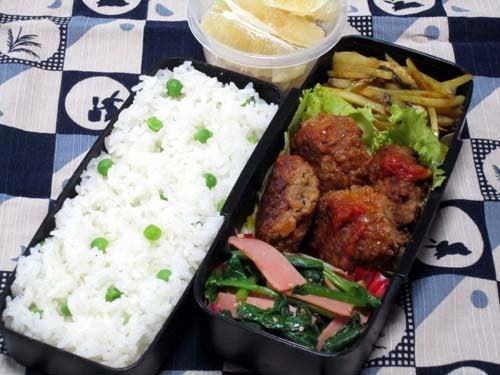 韓国料理サランヘヨ♪ I Love Korean Food-韓国風ご飯にソーセージとほうれん草のナムル