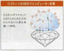 広島で婚約・結婚指輪を作る小さな宝石店『KOUKI倉迫』店長ブログ-O.E.カットは3次元で計算