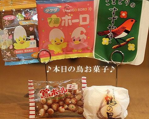 ようこそ!とりみカフェ!!~鳥カフェでの出来事や鳥写真~-本日のお菓子です♪