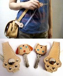 OXIO-CRAFT(オキクラ)の「革雑貨」製作日記-可愛い犬猫キーカバー(ハンドメイド)