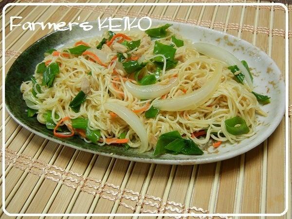 今日のレシピは『ソーメンチャンプルー』 そうめんがくっ付かないコツがありますよ Farmers KEIKO オフィシャルブログ「Farmers KEIKO 農家の台所」Powered by