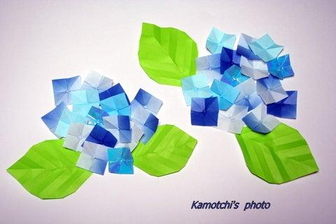 折り紙の:アジサイ 折り紙-ameblo.jp