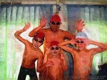 $こどもだいすき★水泳だいすき-20110529 ガオー⑤(油彩)